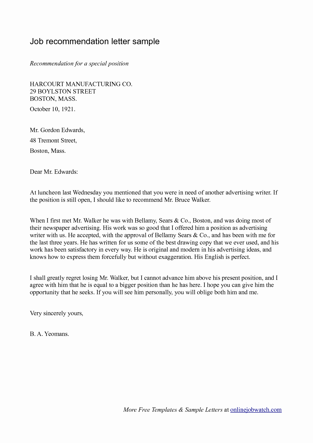 Recommendation Letter Examples for Jobs Inspirational Simple Guide Professional Reference Letter with Samples