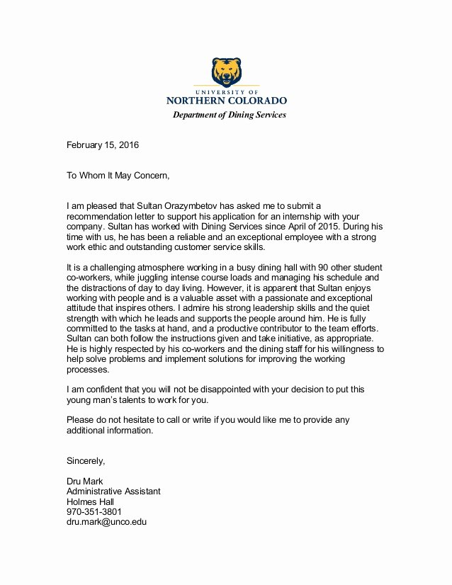 Recommendation Letter for A Job Beautiful Reference Letter 2 Part Time Job