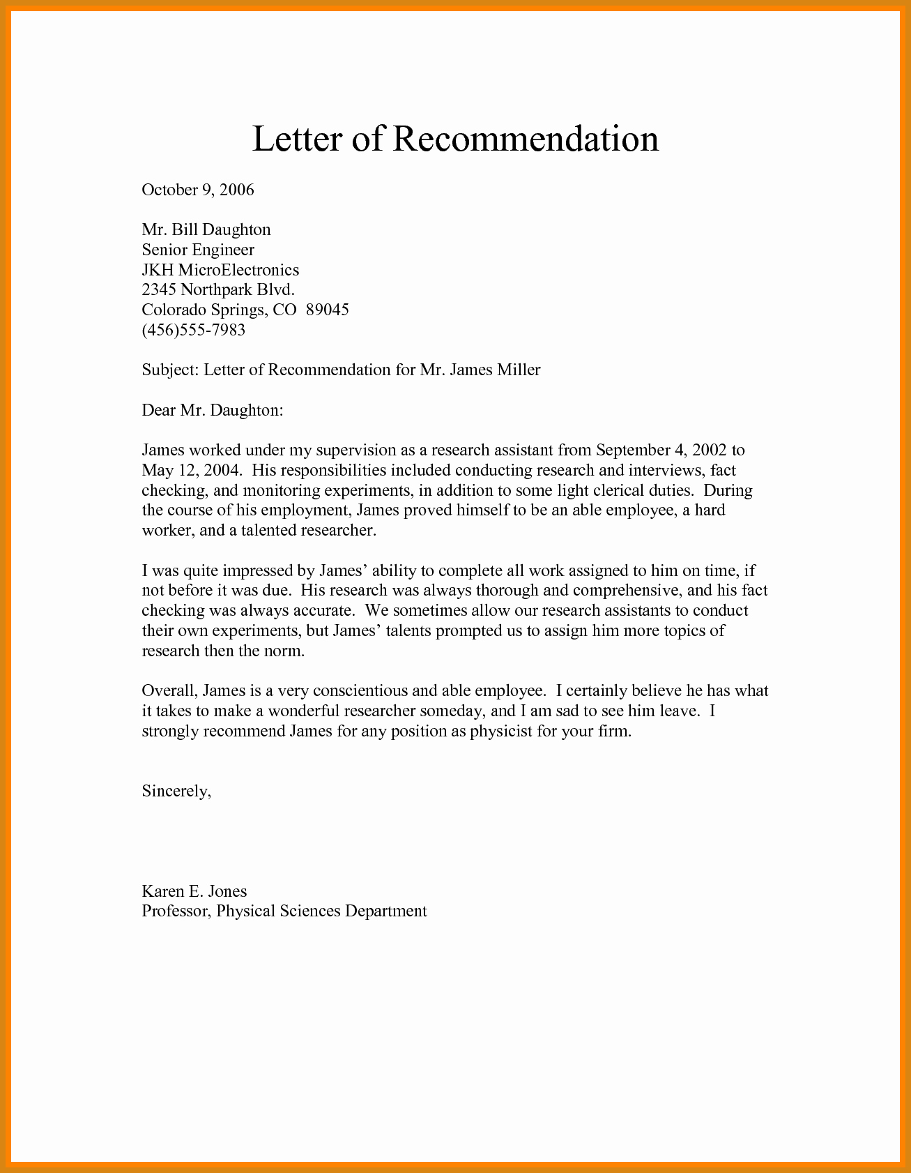 Recommendation Letter for A Job Inspirational Re Mendation Letter for Job