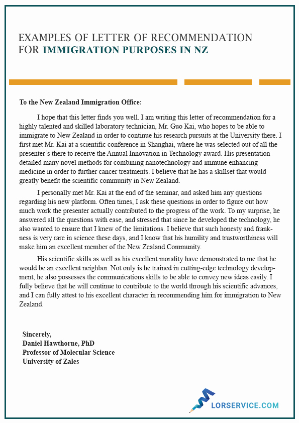 Recommendation Letter for Citizenship Awesome Character Letter Of Re Mendation for Immigration In Nz