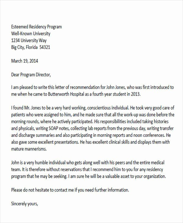 Recommendation Letter for Doctor Awesome 8 Sample Physician Re Mendation Letters Doc Pdf
