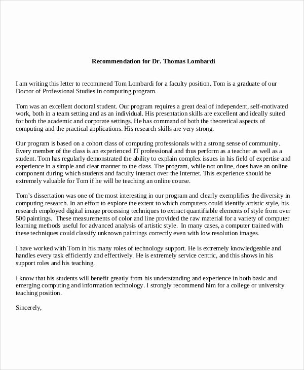 Recommendation Letter for Doctor Unique 59 Reference Letters Word Google Docs Apple Pages