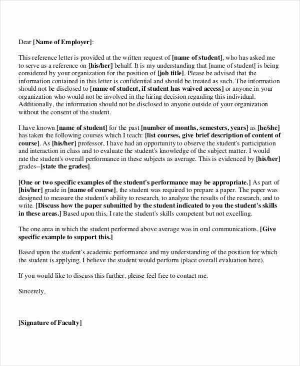 Recommendation Letter for Professor Position Elegant 36 Re Mendation Letter Templates In Pdf
