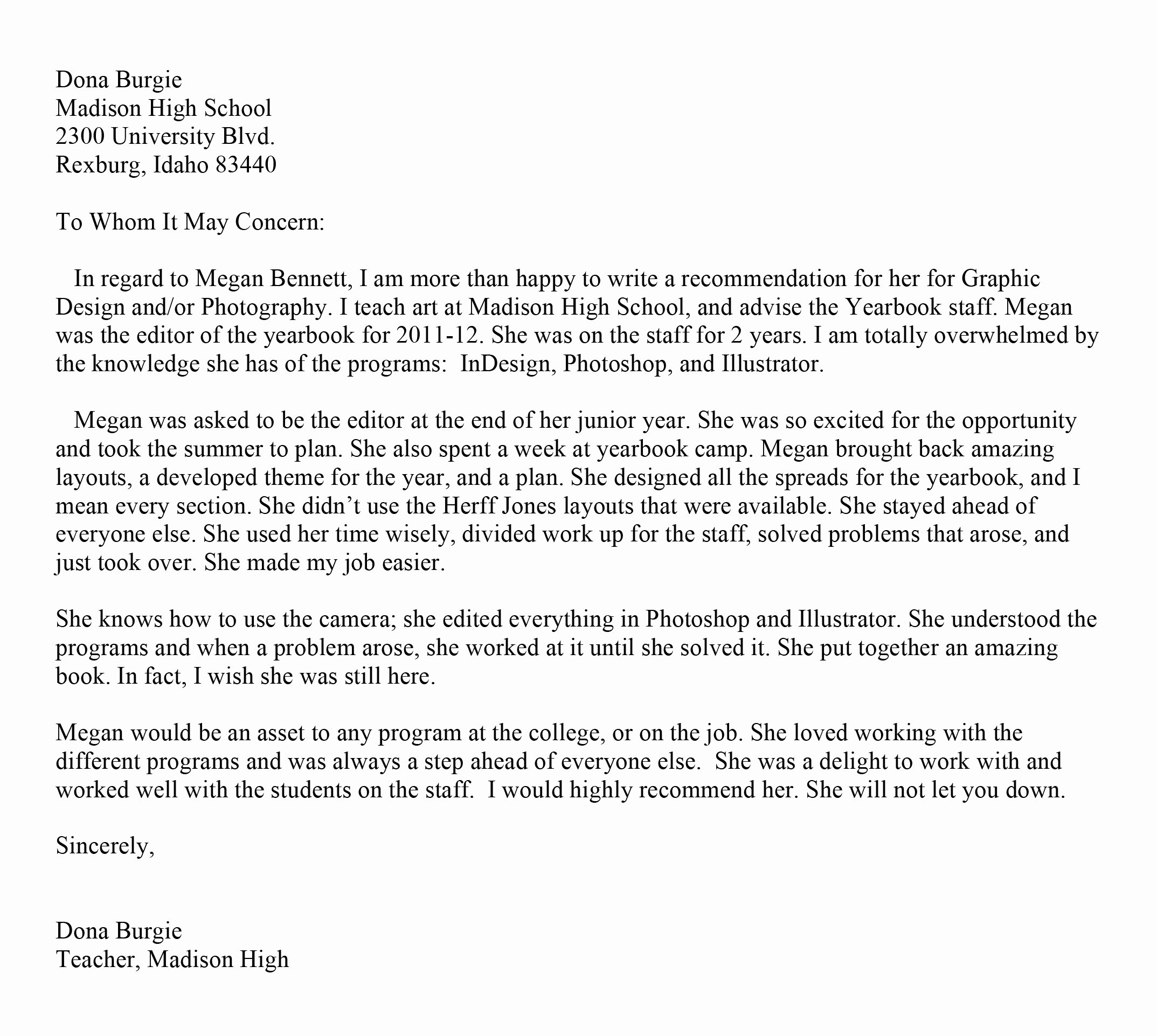 Recommendation Letter Template Word Luxury Best S Of Microsoft Letter Re Mendation