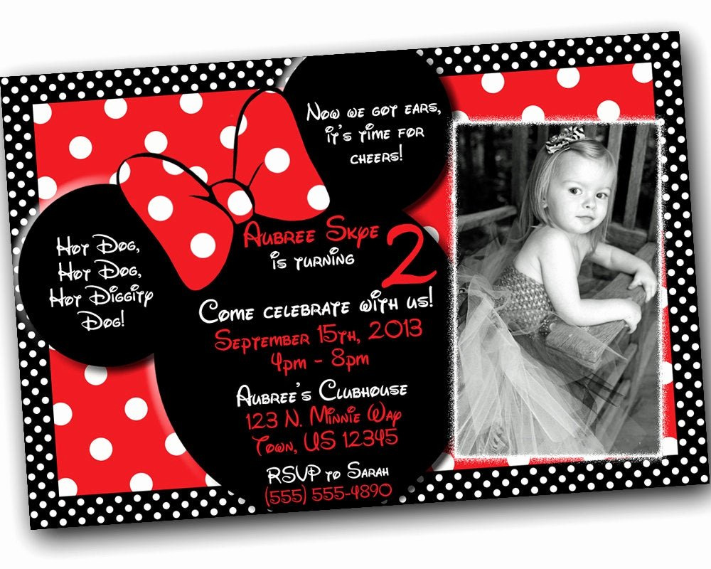 Red Minnie Mouse Birthday Invitations Awesome Sale Minnie Mouse Invitations Minnie Mouse Birthday Red