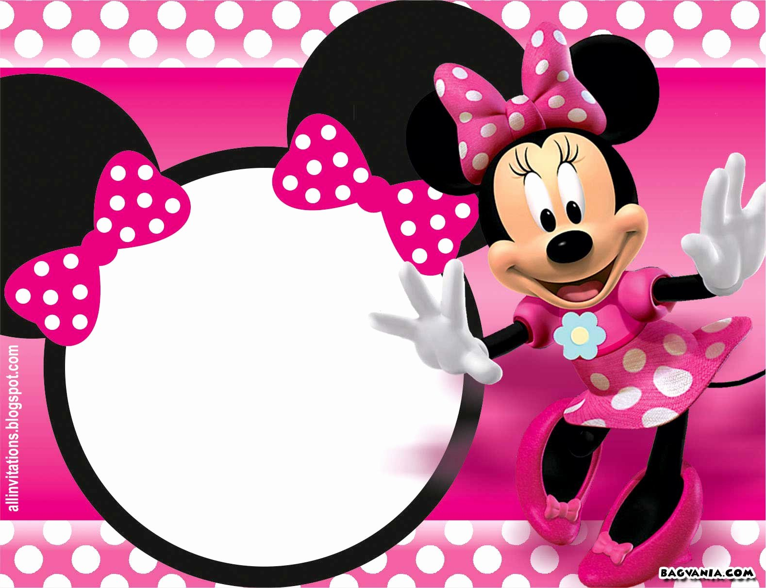 Red Minnie Mouse Birthday Invitations Beautiful Free Printable Minnie Mouse Birthday Invitations