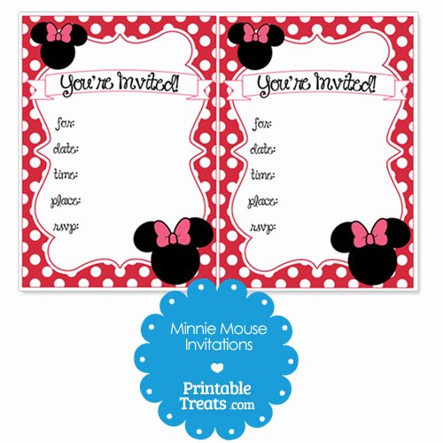 Red Minnie Mouse Birthday Invitations Best Of Printable Red Minnie Mouse Invitations — Printable Treats