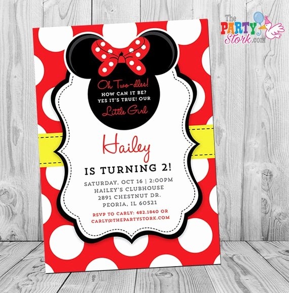 Red Minnie Mouse Birthday Invitations Elegant Minnie Mouse Birthday Invitations Printable Girls Party
