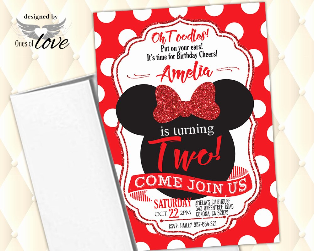 Red Minnie Mouse Birthday Invitations Fresh Minnie Mouse Invitation Red Minnie Mouse Birthday Invitation