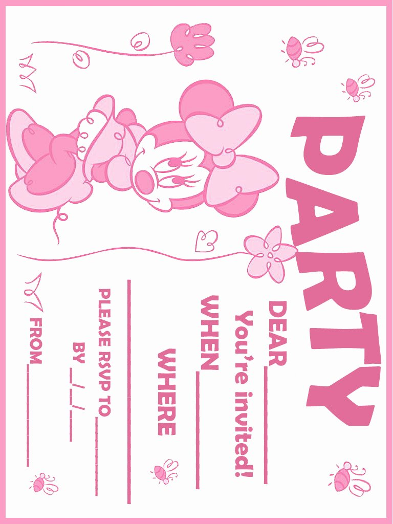 Red Minnie Mouse Birthday Invitations Inspirational Printable Minnie Mouse Birthday Invitations – Free