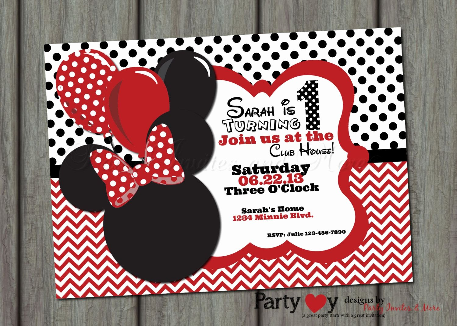 Red Minnie Mouse Birthday Invitations Lovely Red Minnie Mouse Birthday Invitation Printable