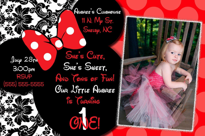 Red Minnie Mouse Birthday Invitations Luxury Minnie Mouse Invitations Minnie Mouse Birthday Red Minnie