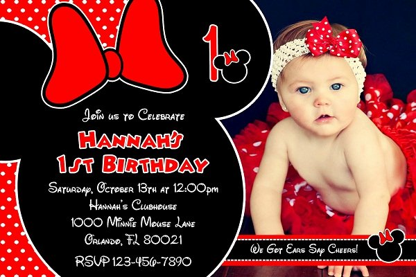 Red Minnie Mouse Birthday Invitations Luxury Red Minnie Mouse Birthday Invitations Ideas Girl – Free