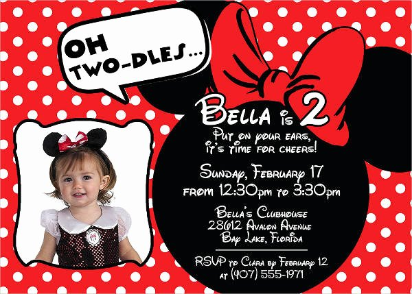 Red Minnie Mouse Birthday Invitations New 20 Minnie Mouse Birthday Invitation Templates Psd Ai