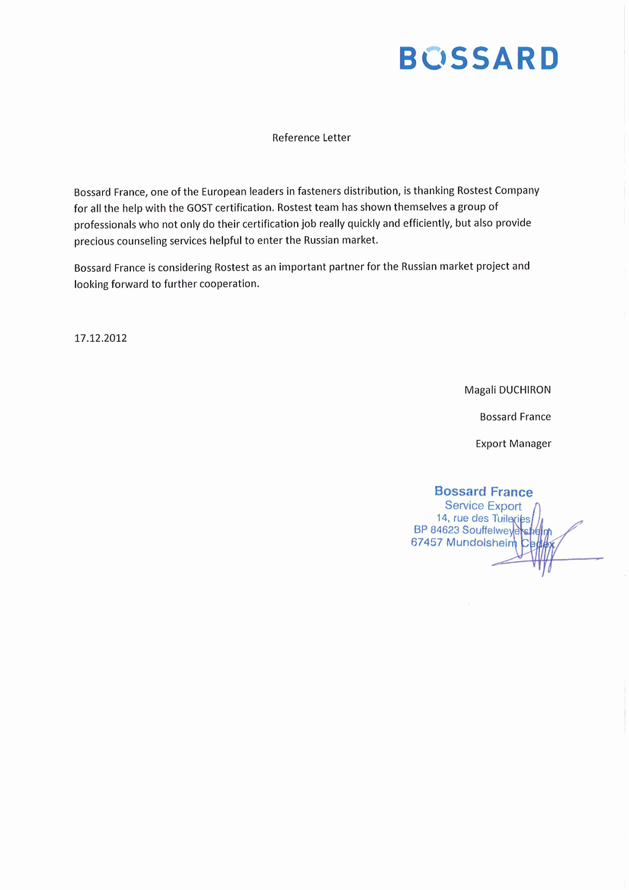 Reference Letter for A Job Fresh All References