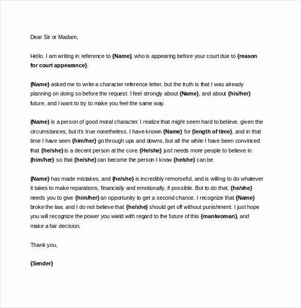 Reference Letter for Court Awesome 19 Reference Letter Templates Doc Pdf