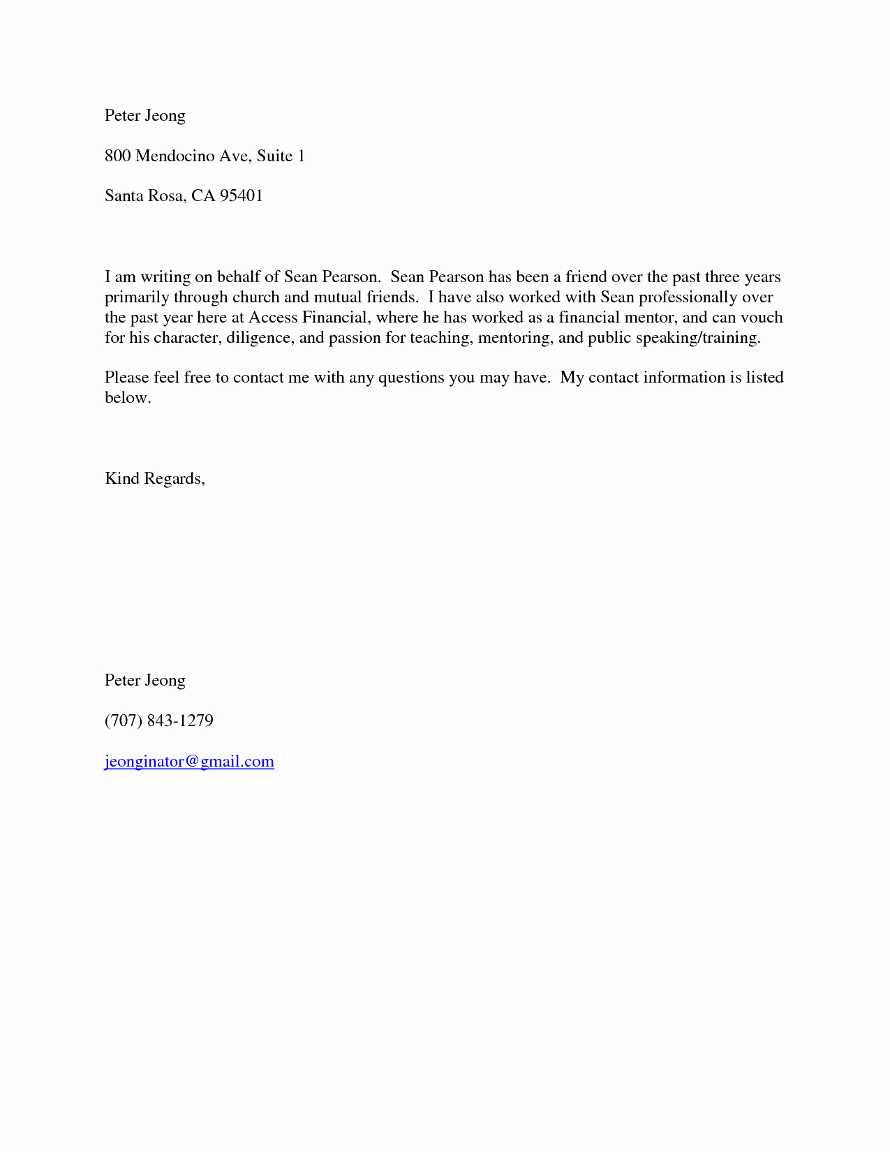 Reference Letter for Friend Awesome Good Moral Character Letters Samples Character