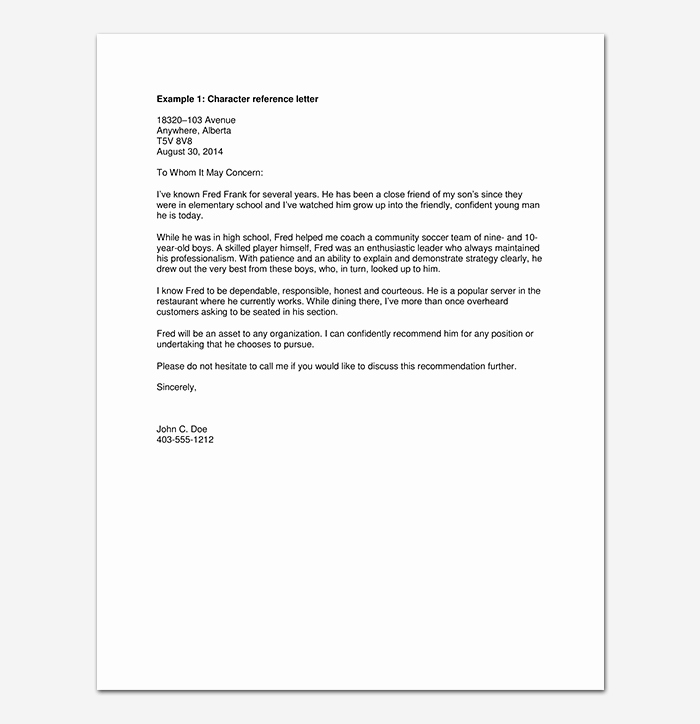 Reference Letter for Friend Best Of Reference Letter for Friend Tips with format & Sample