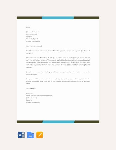 Reference Letter for Friend Luxury 8 Reference Letters for Friend Doc Pdf