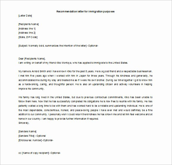 Reference Letter for Friends Best Of 16 Re Mendation Letters for A Friend Free Sample