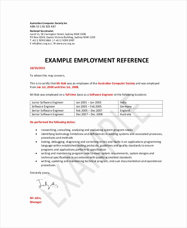 Reference Letter for Job Application Best Of 46 Reference Letter Examples & Samples Pdf Doc