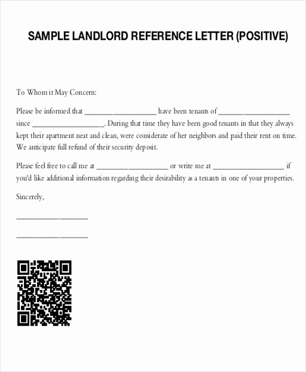 Reference Letter for Renter Awesome 5 Sample Tenant Re Mendation Letter Free Sample