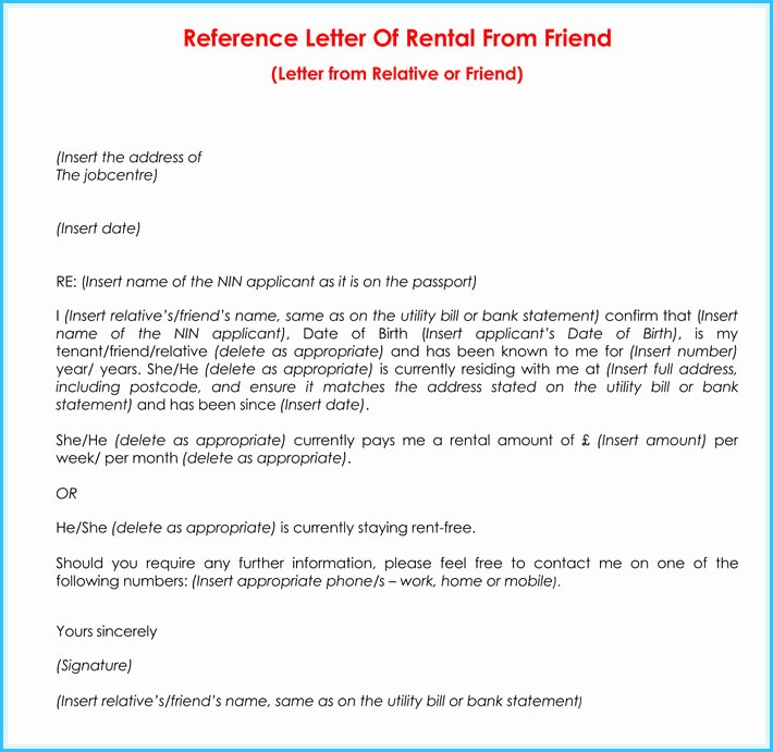 Reference Letter for Renter Luxury 6 7 Tenant Reference Letter