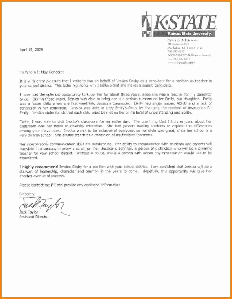 Reference Letter for Teachers New 8 English Teacher Reference Letter