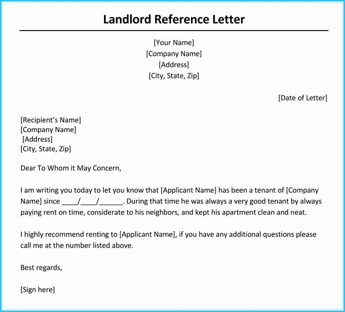 Reference Letter From Landlord Inspirational Rental Reference Letter 9 Sample Letters formats and