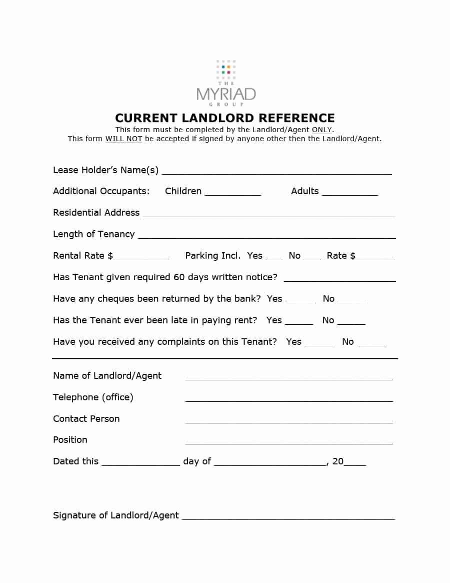 Reference Letter From Landlord Luxury 40 Landlord Reference Letters & form Samples Template Lab