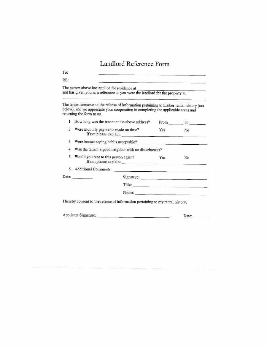 Reference Letter From Landlord Unique 40 Landlord Reference Letters & form Samples Template Lab