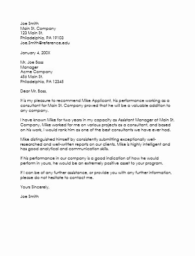Reference Letter Sample for Job Fresh Employee Reference Letter Template 5 Samples that Works