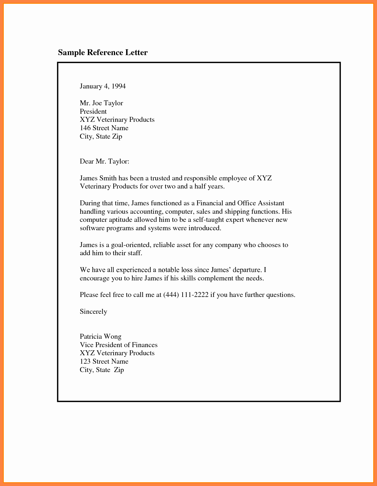 Reference Letter Sample for Job Unique 9 Re Mendation Letter for Employee