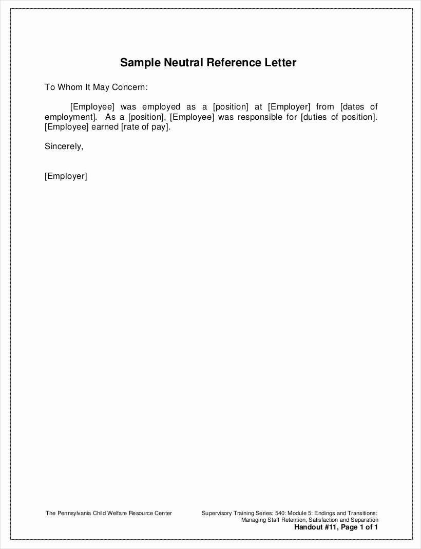 Reference Letter Template for Employment Awesome Free 9 Employee Reference Letter Samples In Pdf