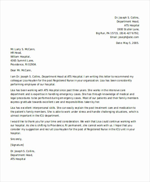 Reference Letter Template for Employment New Re Mendation Letter for Employee