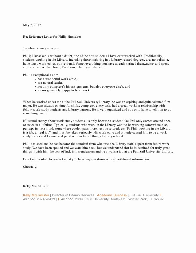 Reference Letters From Employer Awesome Re Mendation Letter From Previous Employer