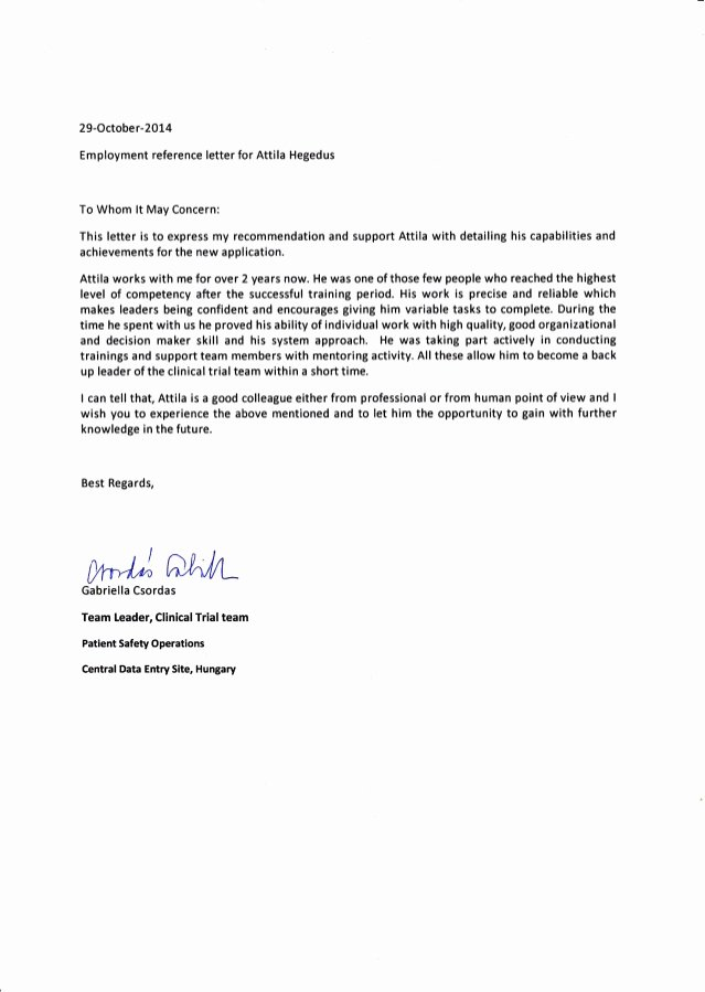 Reference Letters From Employer Inspirational Tcs Reference Letter