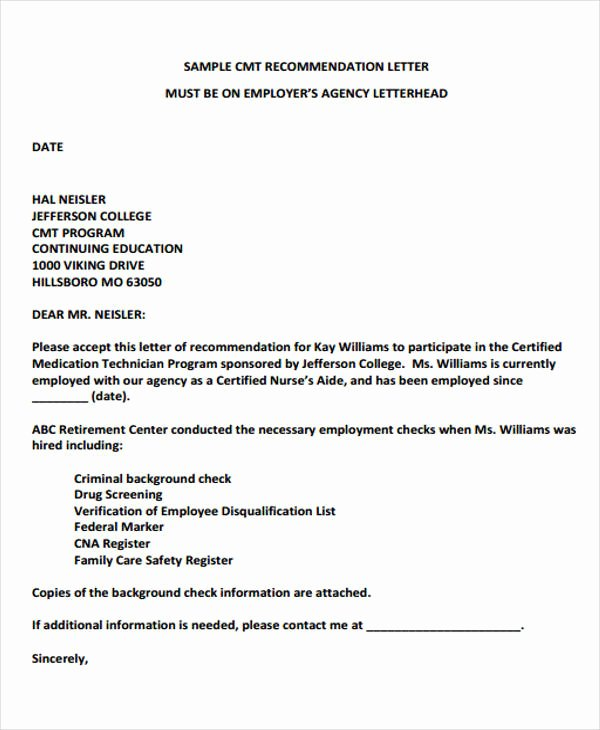 Reference Letters From Employer Luxury Employer Re Mendation Letter Sample 9 Examples In