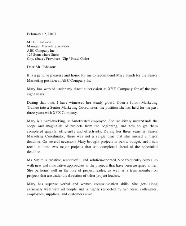 Reference Letters From Employers Best Of Sample Employment Reference Letter 7 Documents In Pdf Word