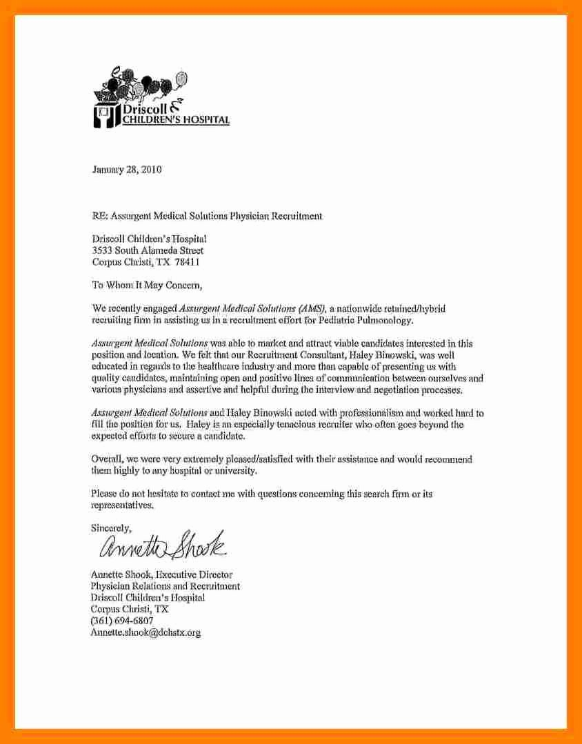 Reference Letters From Employers New 9 Re Mendation Letter From Employer to University
