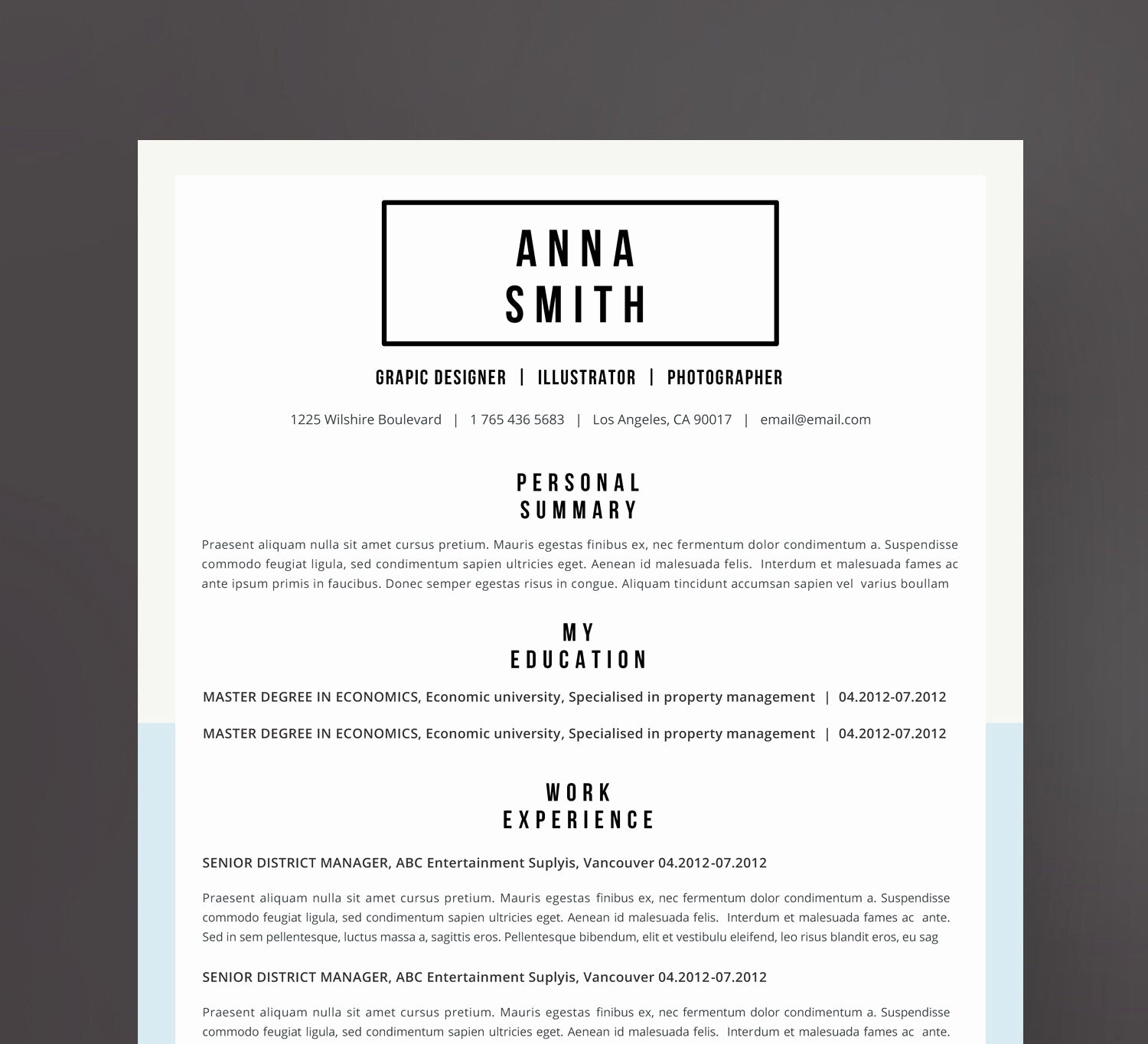 Reference Page for Resume Template Elegant Resume Template No 7 Cover Letter Reference Page Free