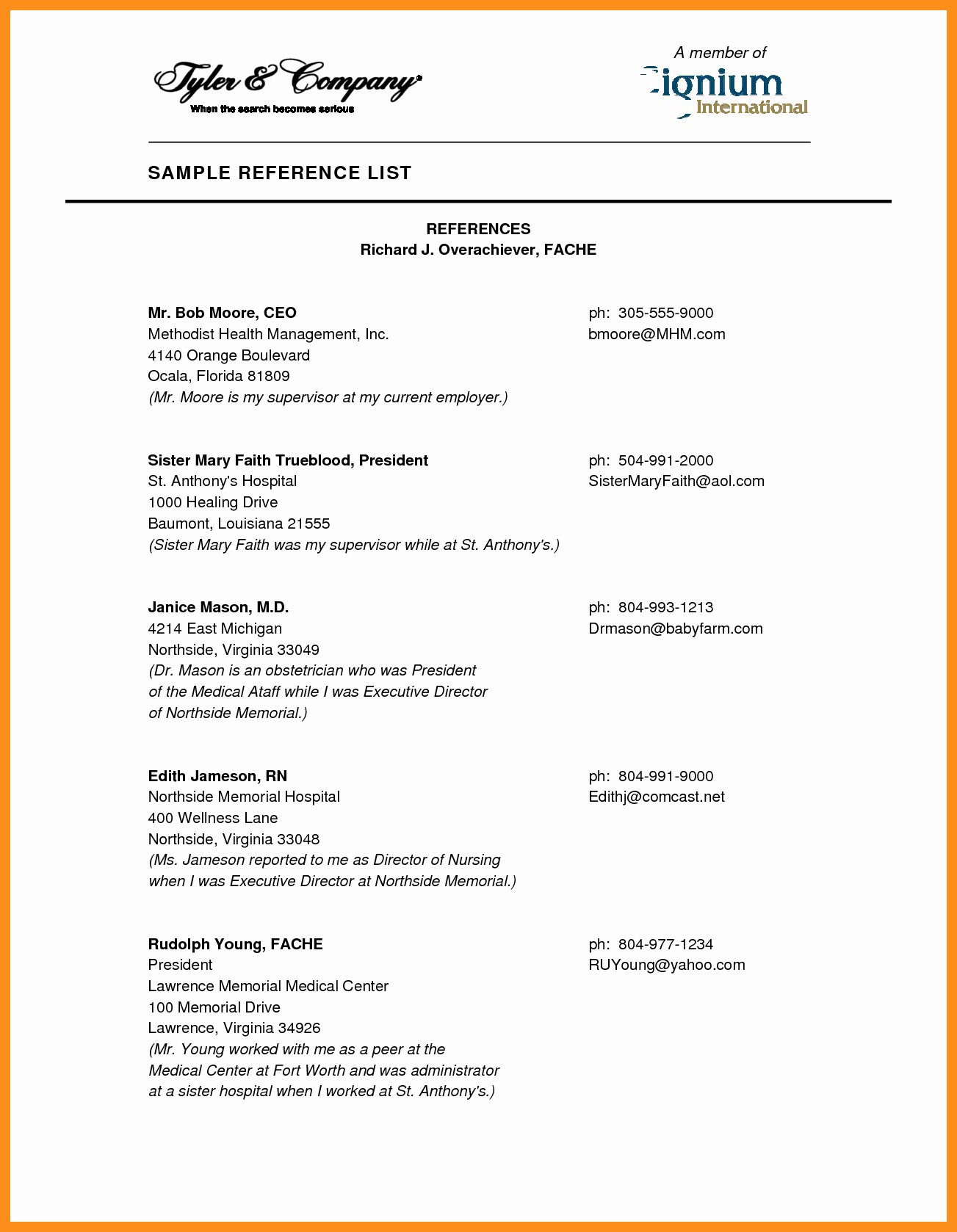 Reference Page for Resume Template Fresh Reference List Template
