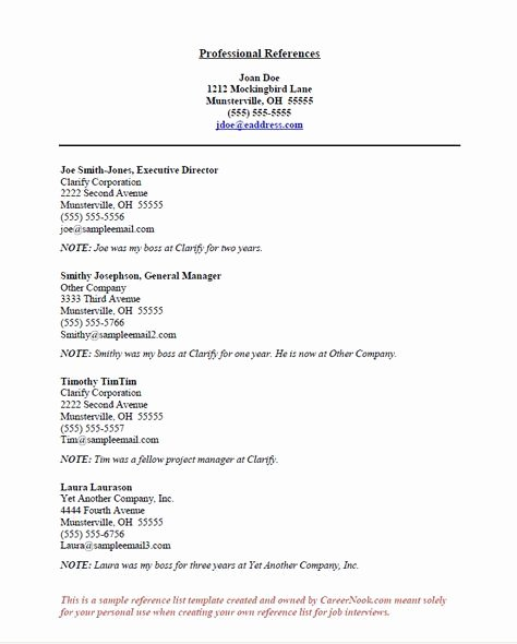 Reference Page for Resume Template New How to Title References Page for Resume