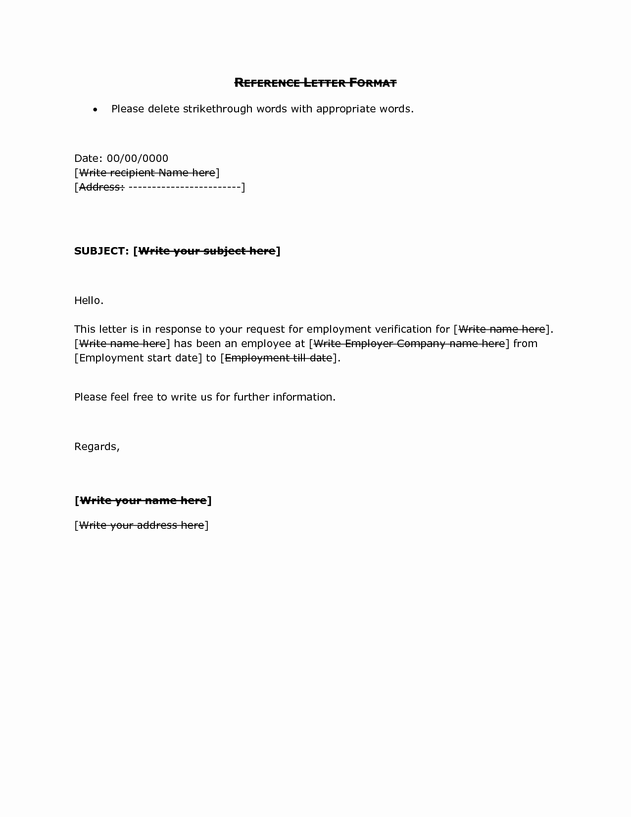 References Letter From Employer Elegant Reference Letter format Doc Reference Letter