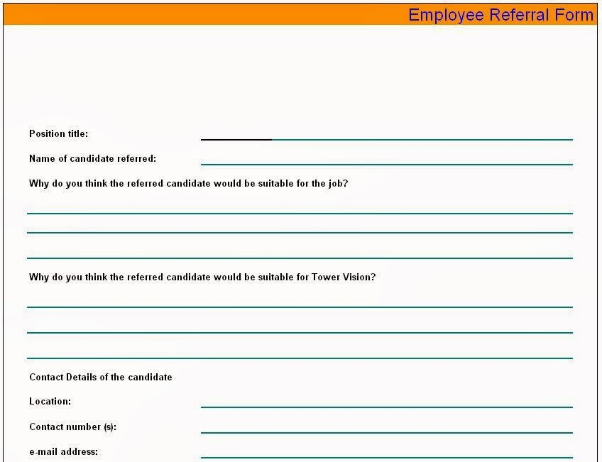 Referral form Template Word Awesome Referral form Template