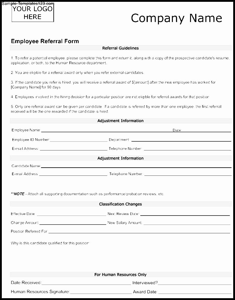 Referral form Template Word Elegant Medical Referral form Sample
