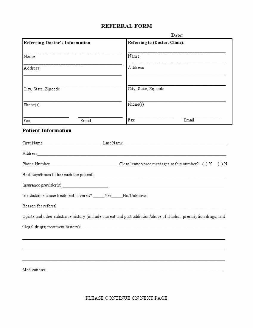 Referral form Template Word Lovely Medical Referral form – Templates Free Printable