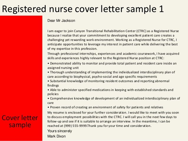 Registered Nurse Cover Letter Example Inspirational Registered Nurse Cover Letter