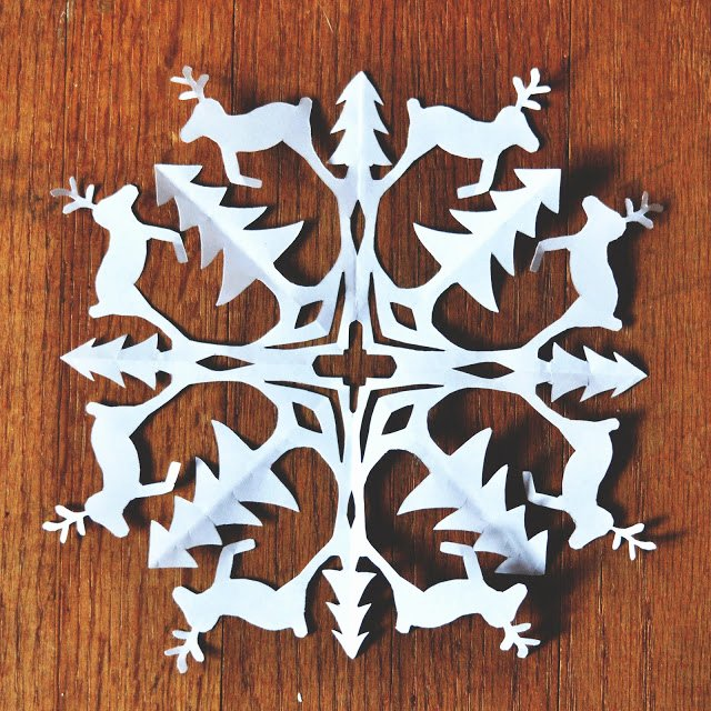 Reindeer Cut Out Pattern Beautiful Zauberbear Reindeer Snowflake Pattern