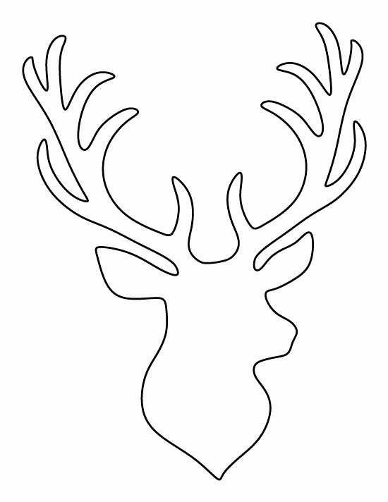 Reindeer Cut Out Pattern Elegant Stag Head Pattern Use the Printable Outline for Crafts